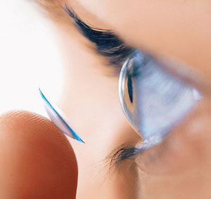 lente a contatto semirigida